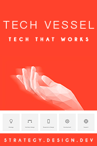 Tech Vessel menu banner