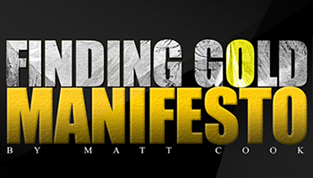 finding gold manifesto banner ad